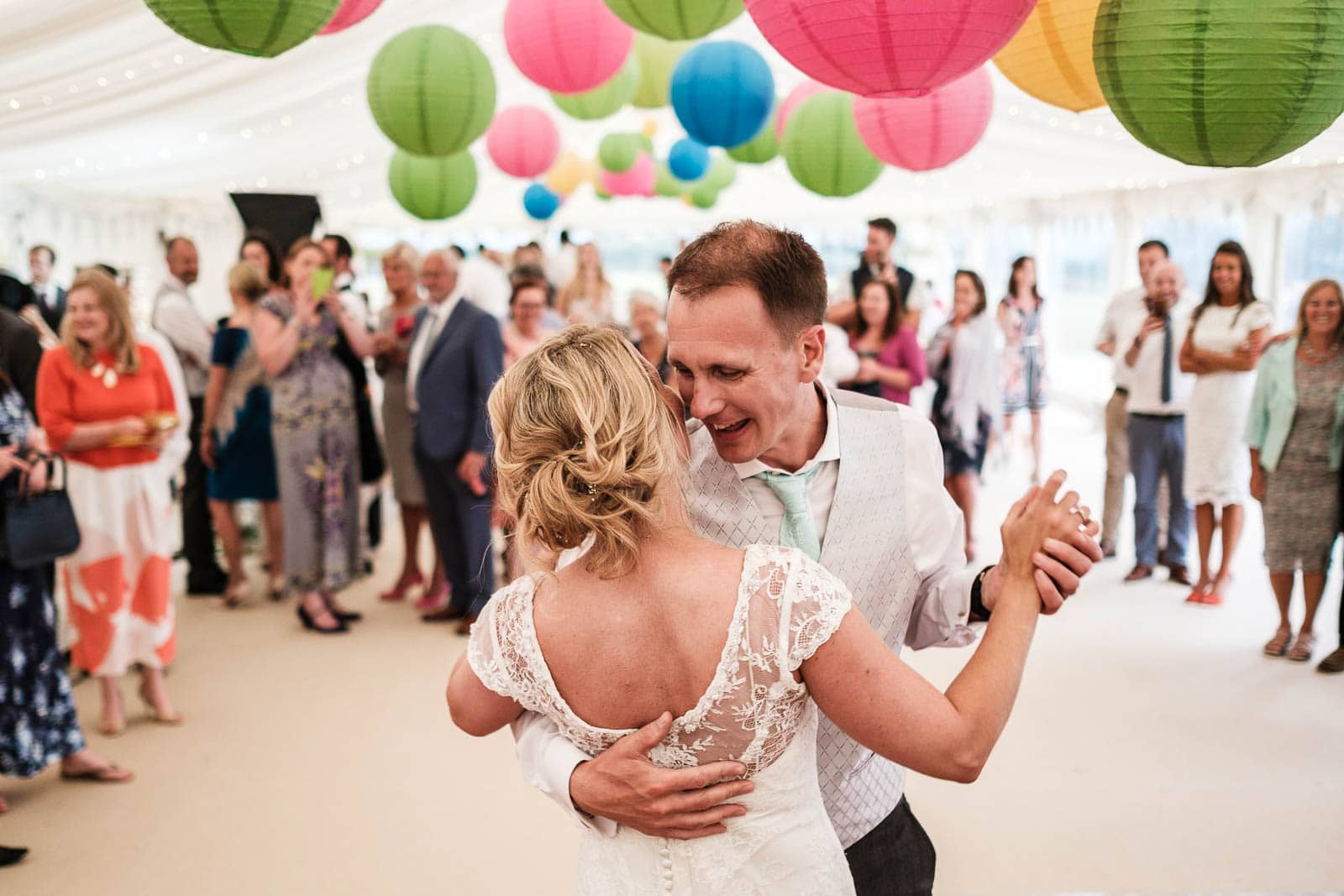 First dance at a wedding in St Mawes