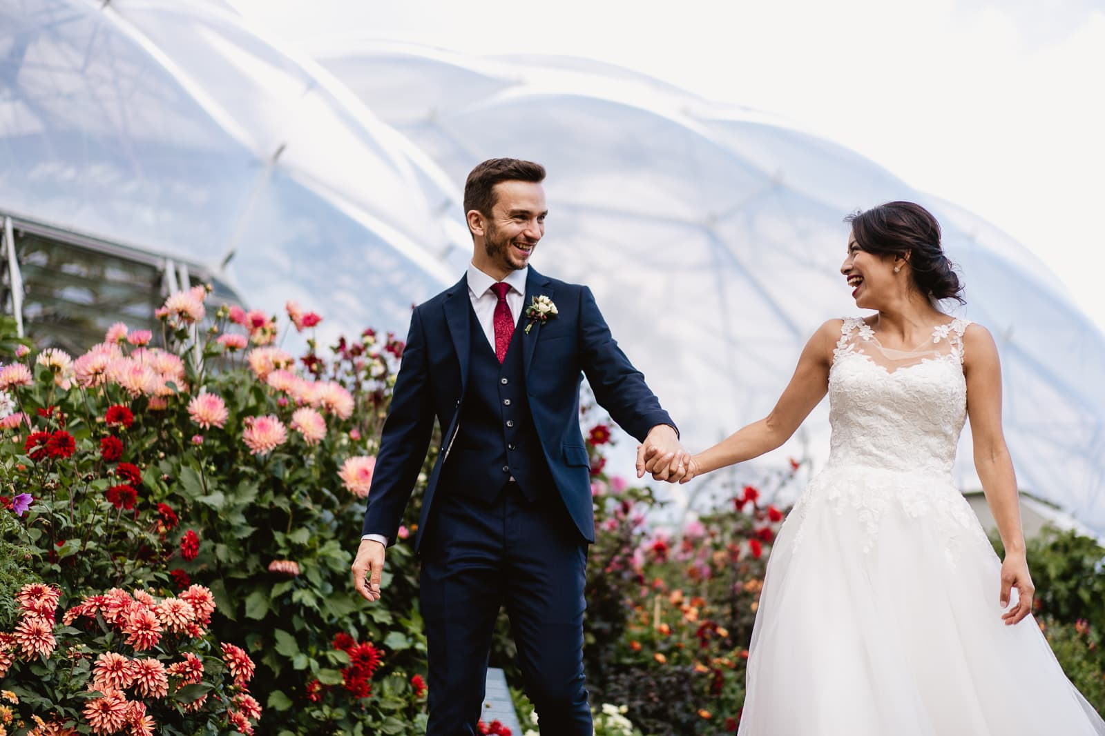 Wedding images from the Eden Project in Cornwal