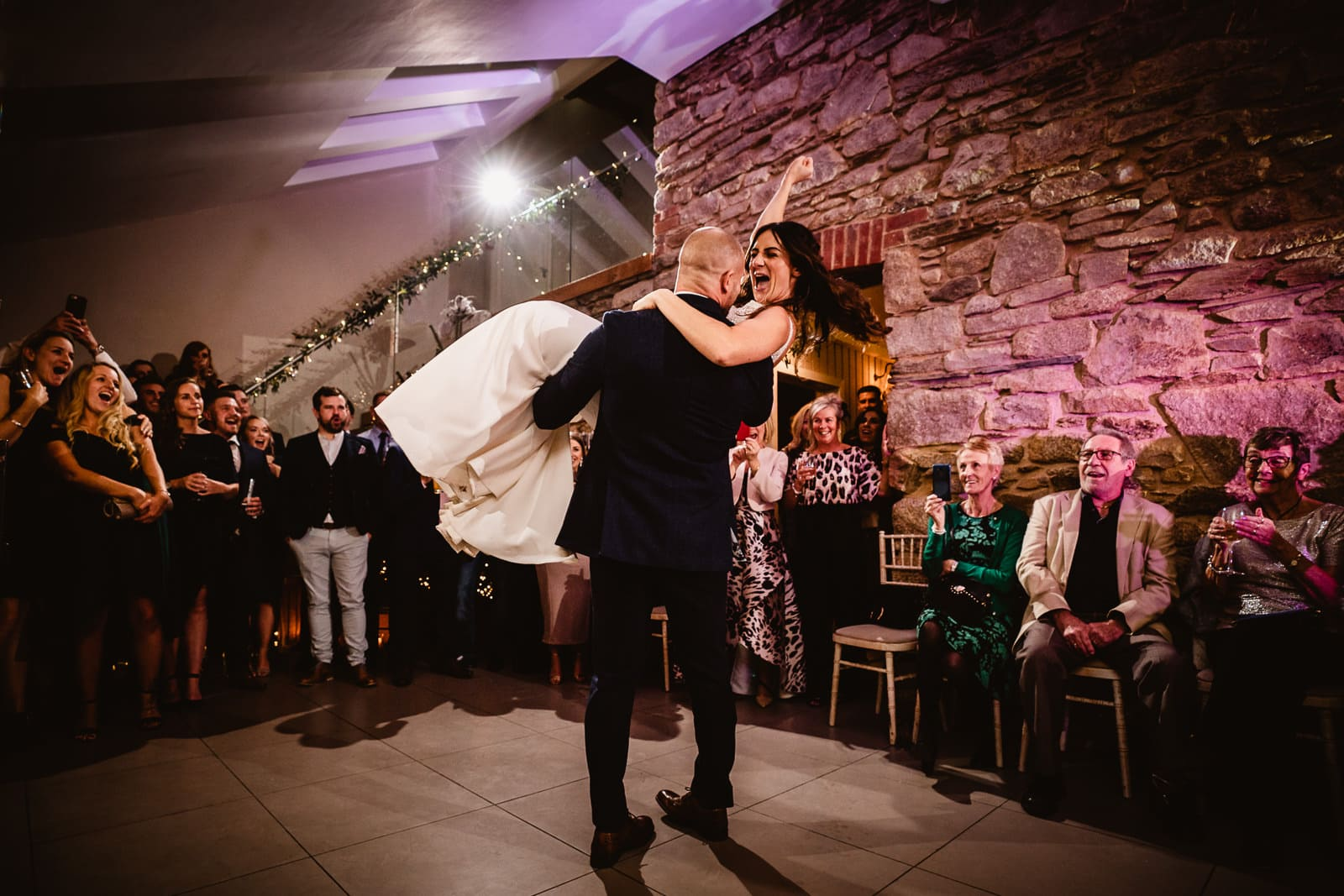 First Dance in the Threshing Barn at Trevenna Barns