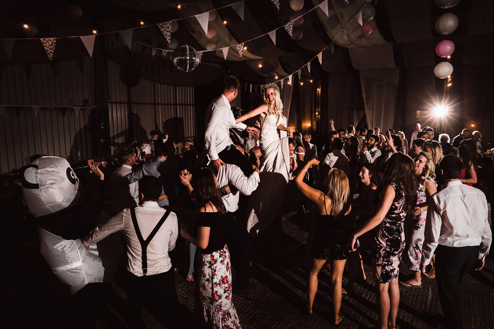 crazy barn festival wedding