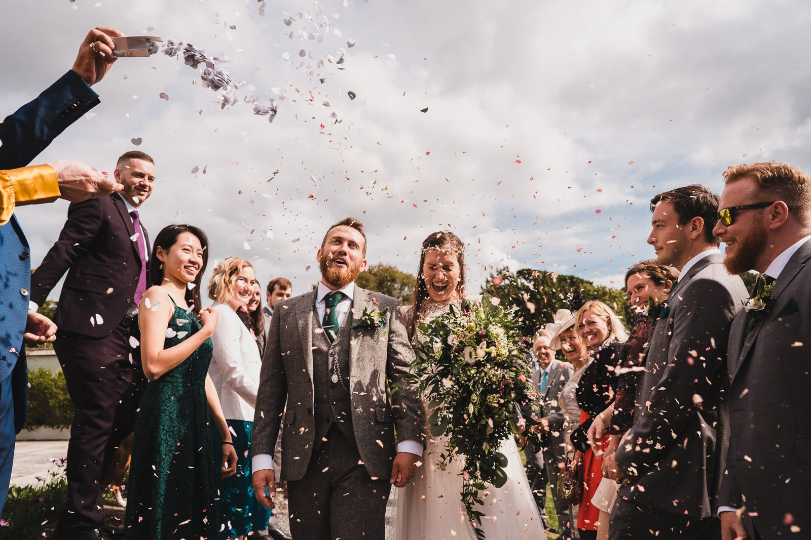 Wedding Confetti at Trebah Gardens