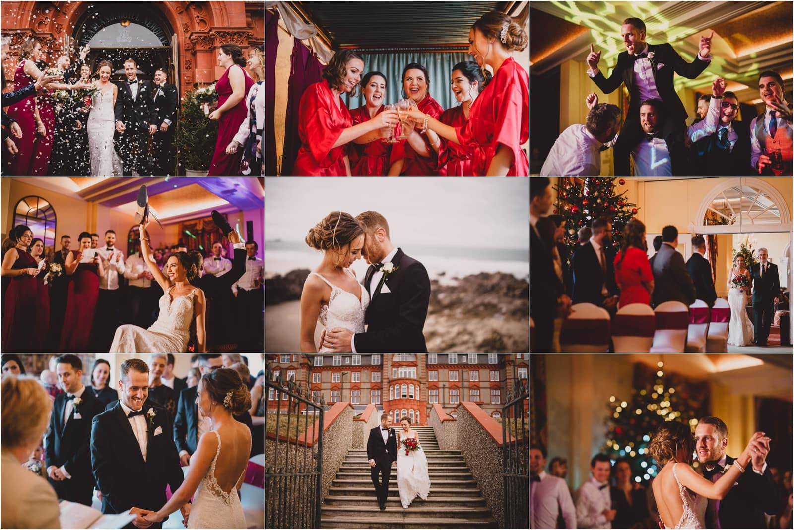 Headland Hotel Christmas Wedding