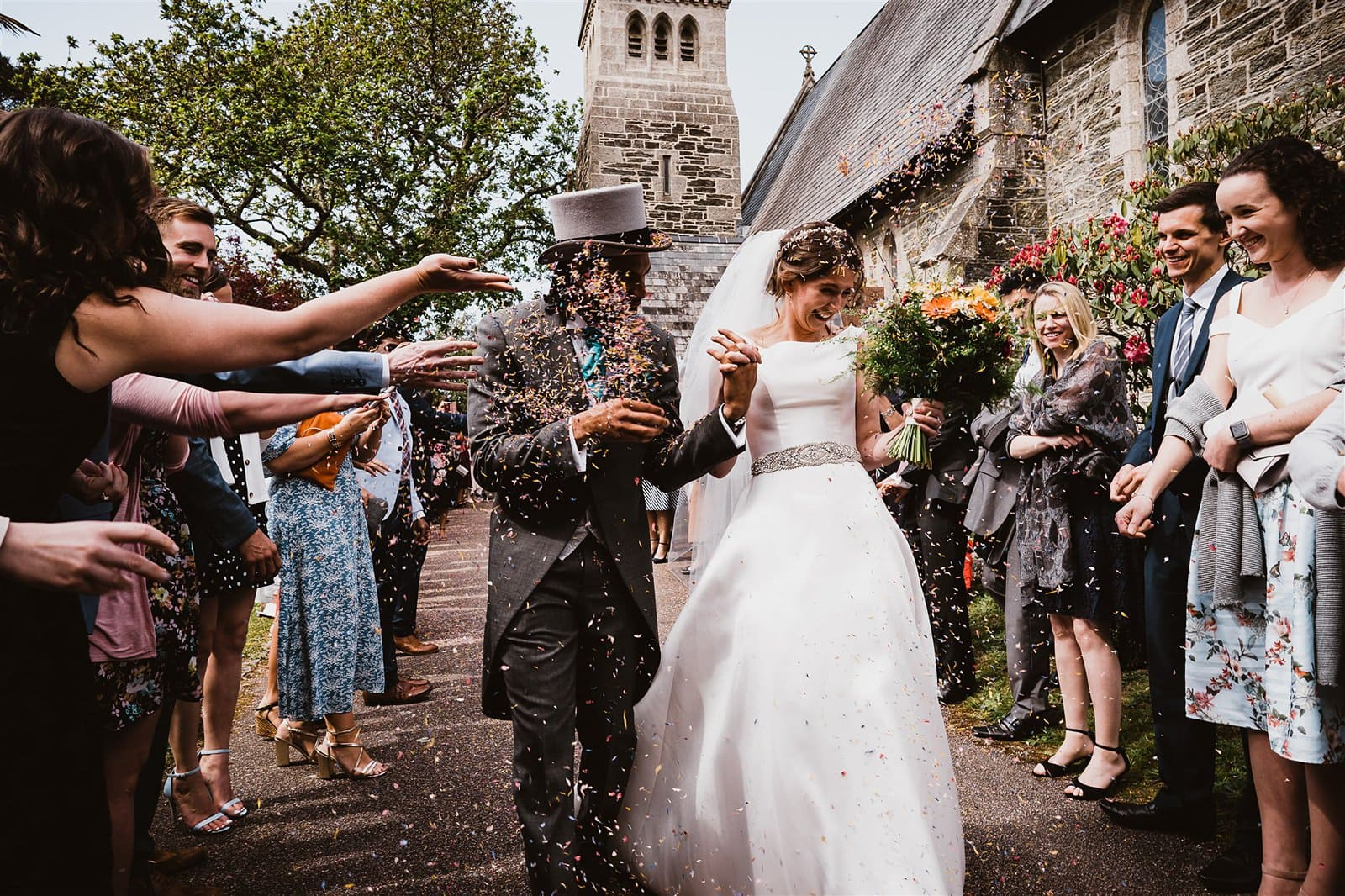 garden wedding cornwall