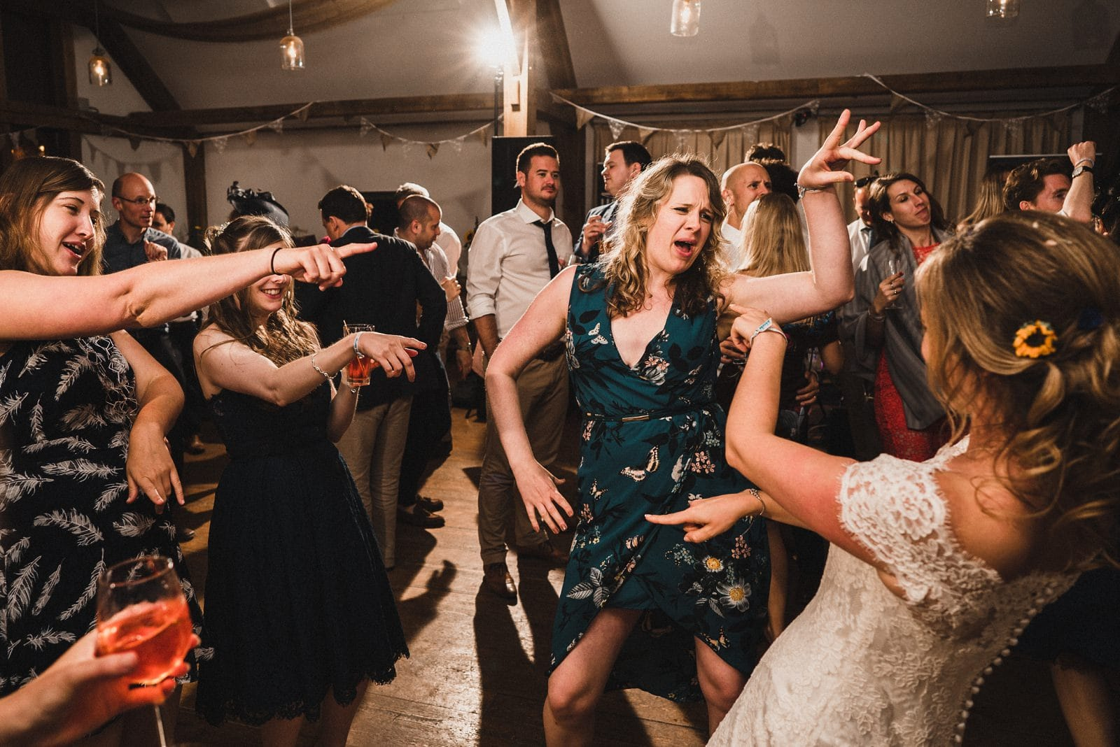 Dancefloor wedding photography at Nancarrow Farm