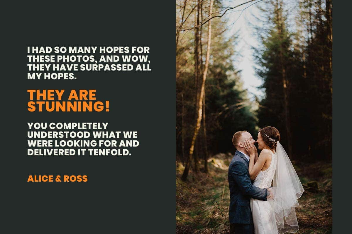 Amazing feedback from a wedding couple