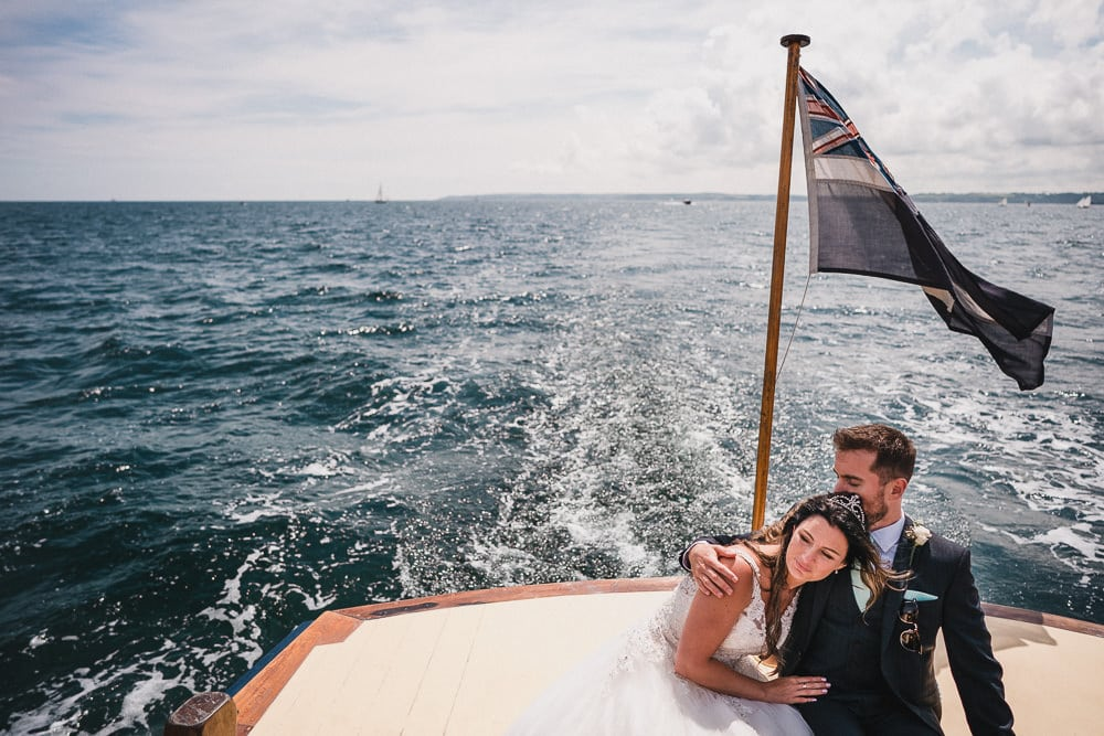Boat Elopement Wedding in Cornwall