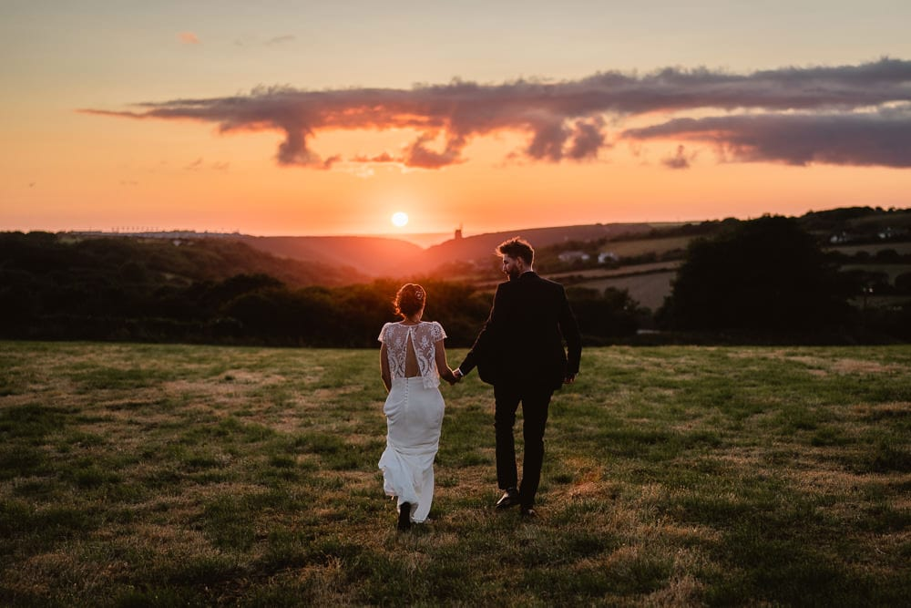 Sunset Elopement Image Cornwall