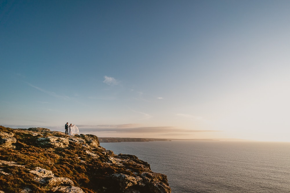 Clifftop Elopement Image Cornwall